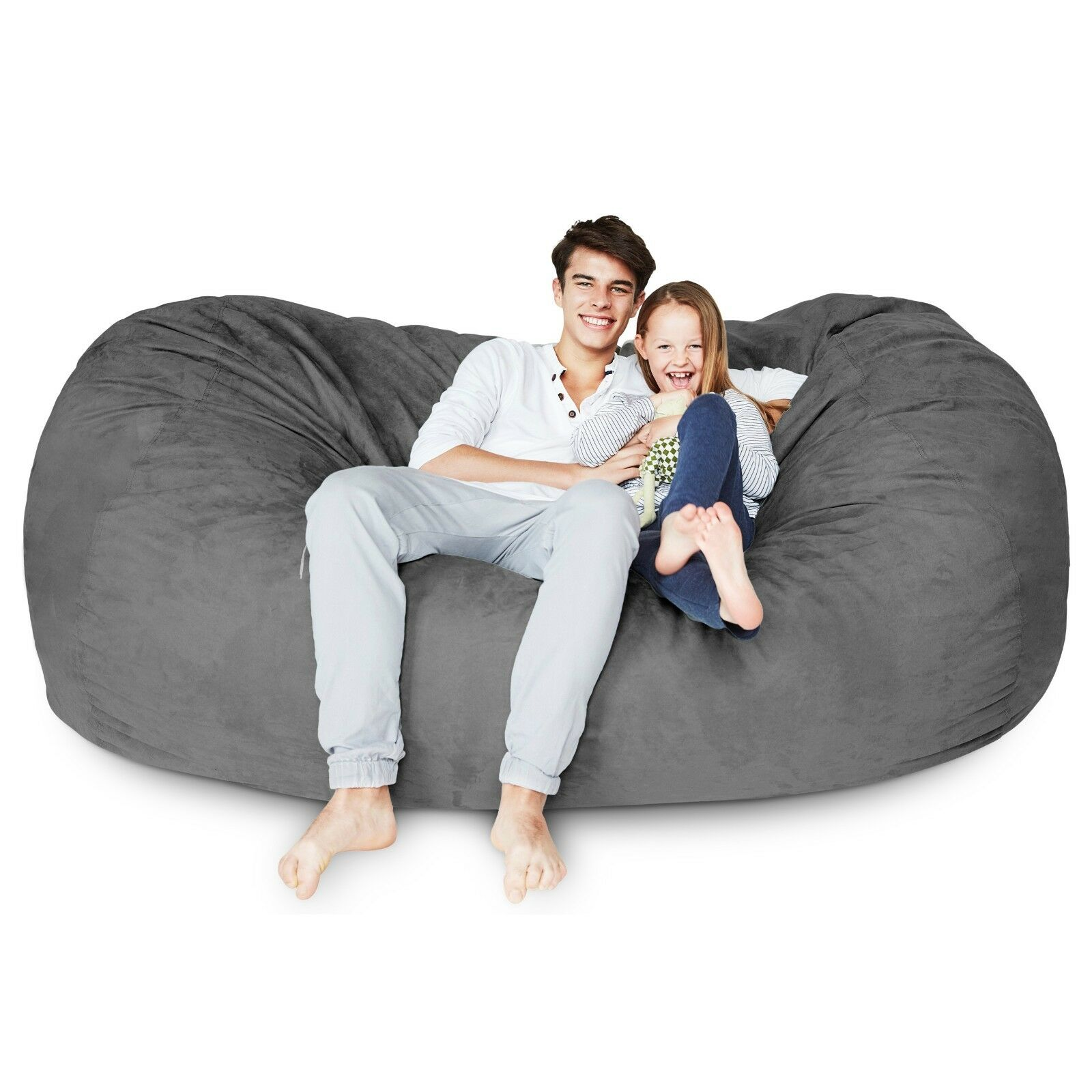 Surprising Foam Filled Giant Xxl Bean Bag Chair Big Sofa Relax Seat Lounger Loveseat Couch Andrewgaddart Wooden Chair Designs For Living Room Andrewgaddartcom