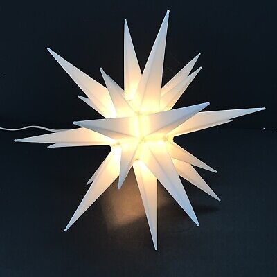 """Christmas Lite 14"""" Hanging Moravian Porch Star Bethlehem Light Tree Topper"""