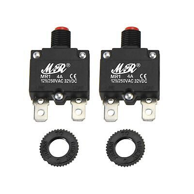 Rkurck 4a Amps Thermal Circuit Breakers 125250v Ac 32v Dc Push Button Manual