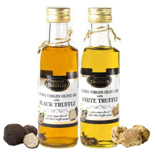 Black truffle and White truffle Extra Virgin Olive Oils Gourmet 2 x 100ml