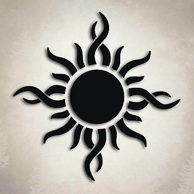 Tribal Sun Decal Car Truck Window Fire Flame Godsmack Energy Sticker (Sun Decal)