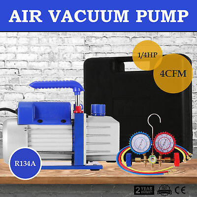 4cfm Vane Vacuum Pump Rotary 14hp Ac Air Tool R134a Hvac Freon Charge Tool
