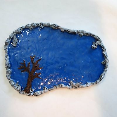 Scale Painted Resin (Ho/ O scale painted resin large pond/ lake -model train/ dollhouse/ diorama)