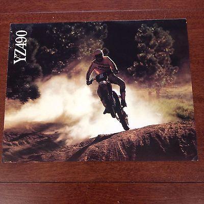 YAMAHA 1982 YZ490 ORIGINAL DEALER BROCHURE VINTAGE MOTOCROSS YZ490 SPECS AHRMA