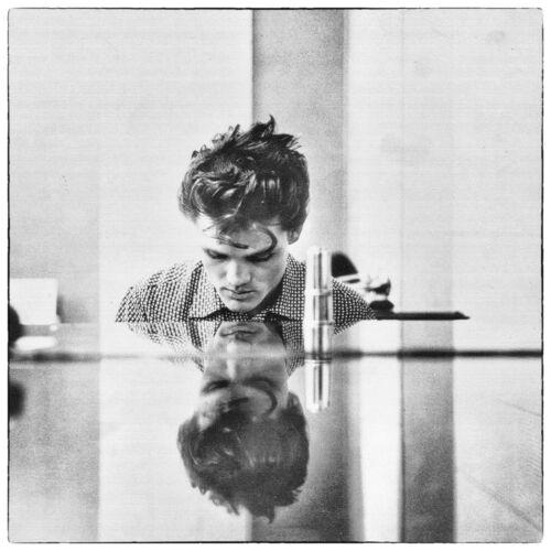 """Reproduction """"Chet Baker - Black & White"""" Jazz Poster, Size: 16"""" x 16"""""""