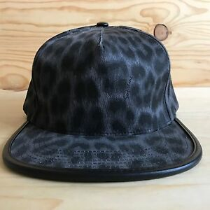 SUPREME LEOPARD FIVE 5 PANEL HAT SNAPBACK LEATHER CAMP CAP BOX LOGO SS 2011