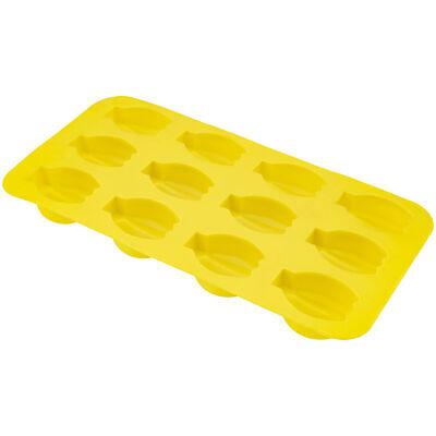 Banana Shape Flexible 12 Ice Cube Tray Mold Yellow Rubber Novelty Gag Gift Joke Bar Tools & Accessories