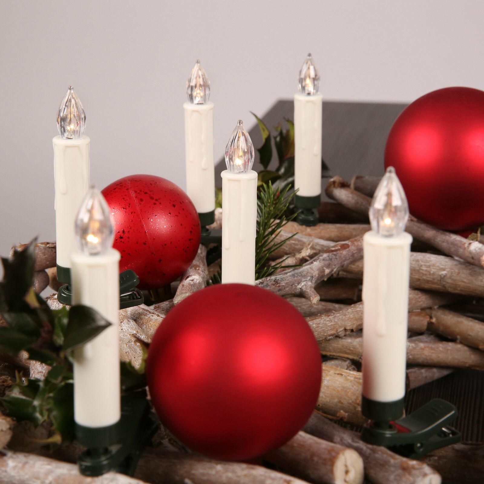 kabellose 20 led weihnachtskerzen lichterkette weihnachtsbaum baumkerzen eur 22 99 picclick it. Black Bedroom Furniture Sets. Home Design Ideas