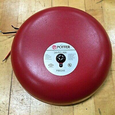 Potter Pbd248 Fire Alarm Bell 24vdc .06a 75db Min.