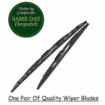 PEUGEOT 206 HATCHBACK 01-08 FRONT WINDSCREEN WIPER BLADE X2 PAIR PREMIUM QUALITY