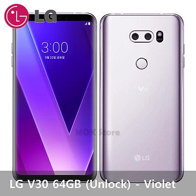 "LG V30 64GB LG-V300 6.0"" 2880 × 1440 OLED Cell Phone Smartphone Unlocked -Violet"