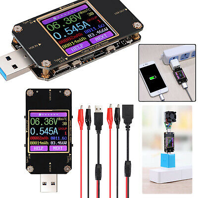 Usb Type C Power Meter Tester Lcd Digital Multimeter Usb Voltmeter Ammeter