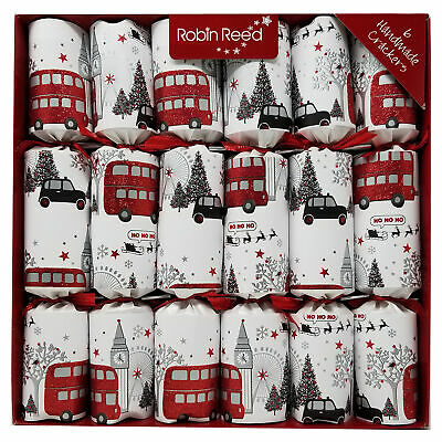 Robin Reed English Holiday Christmas Crackers, Pack of 6 x 12