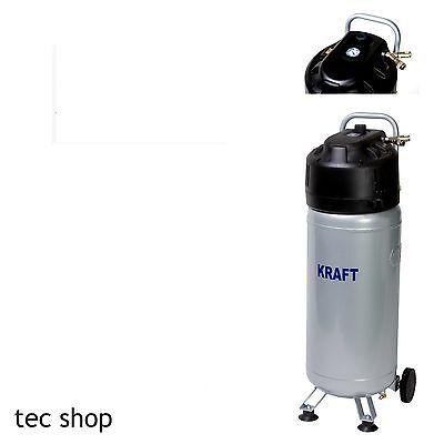 50L Druckluft Kompressor ölfrei 10 bar 1,5KW 50 Liter Tank rollbar Drucksteuerun
