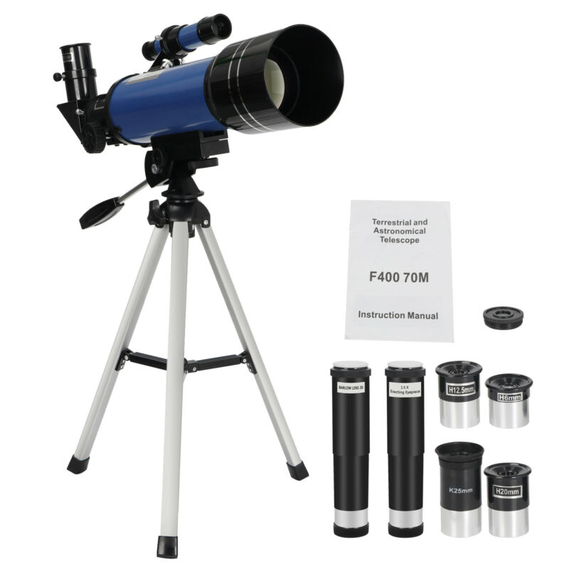 400x70mm Astronomical Travel Telescope Monocular Space Optical Glass Quick Setup