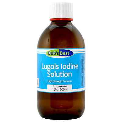 Lugol's Iodine - 15% Solution - 300ml - from Bob's Best Natural...