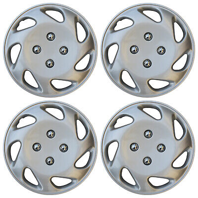 """4 Pc Set of 13"""" Inch ABS Silver Hub Caps Wheel Cover for OEM Steel Rim Caps"""