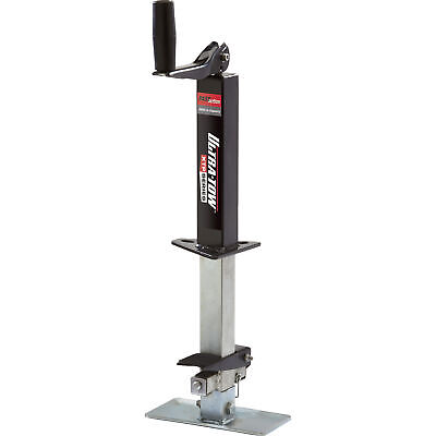 Ultra-Tow XTP Fast Action Square Tube Trailer Jack- 2Klb Topwind A-Frame Mount 2 Square Tube Frame