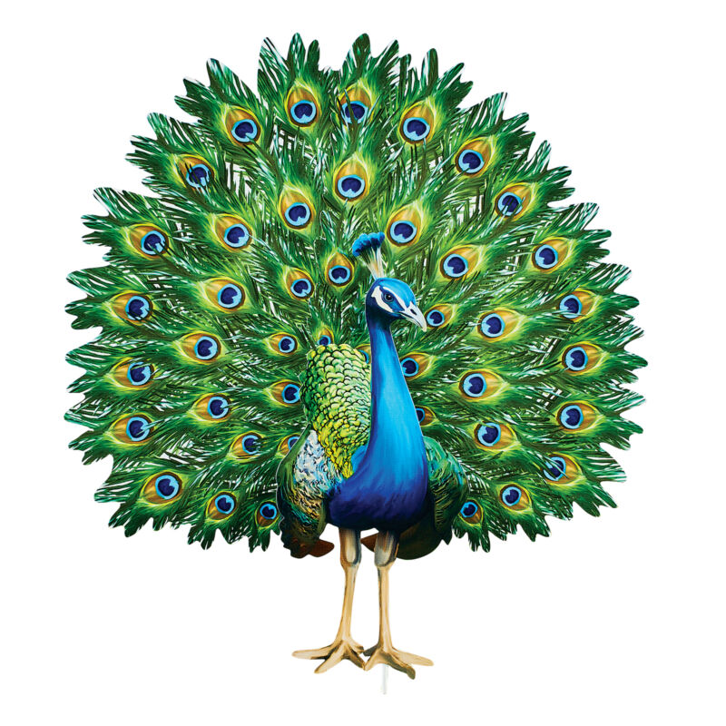 Realistic Magnificent Peacock Outdoor Garden Stake