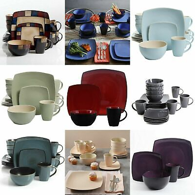 Dinnerware Sets Square (16-Piece Beautiful Square Dinnerware Set Kitchen Plates Dishes Mugs)