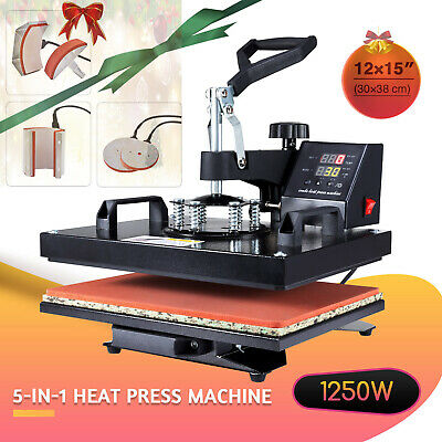 5-in-1 Heat Press Machine 360 Swivel Multifunction Industrial Press 12x15in