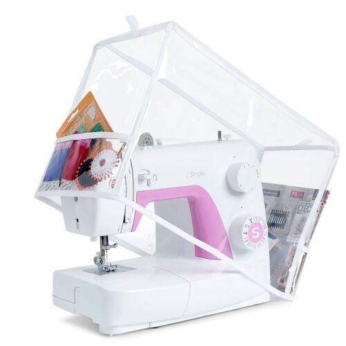 Sewing Machine PVC Dust Cover for Standard Singer & Brother Machines (Clear)