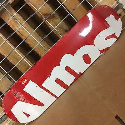New Almost Side Pipe HYB Red Skateboard Deck - 8.25in