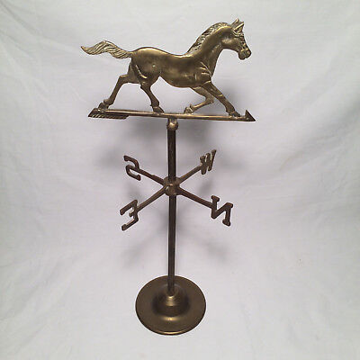 Vintage Brass Horse Weathervane Tabletop Desktop