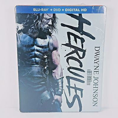 Hercules Blu Ray Dvd Digital Hd Copy Dwayne Johnson Exclusive Steelbook New