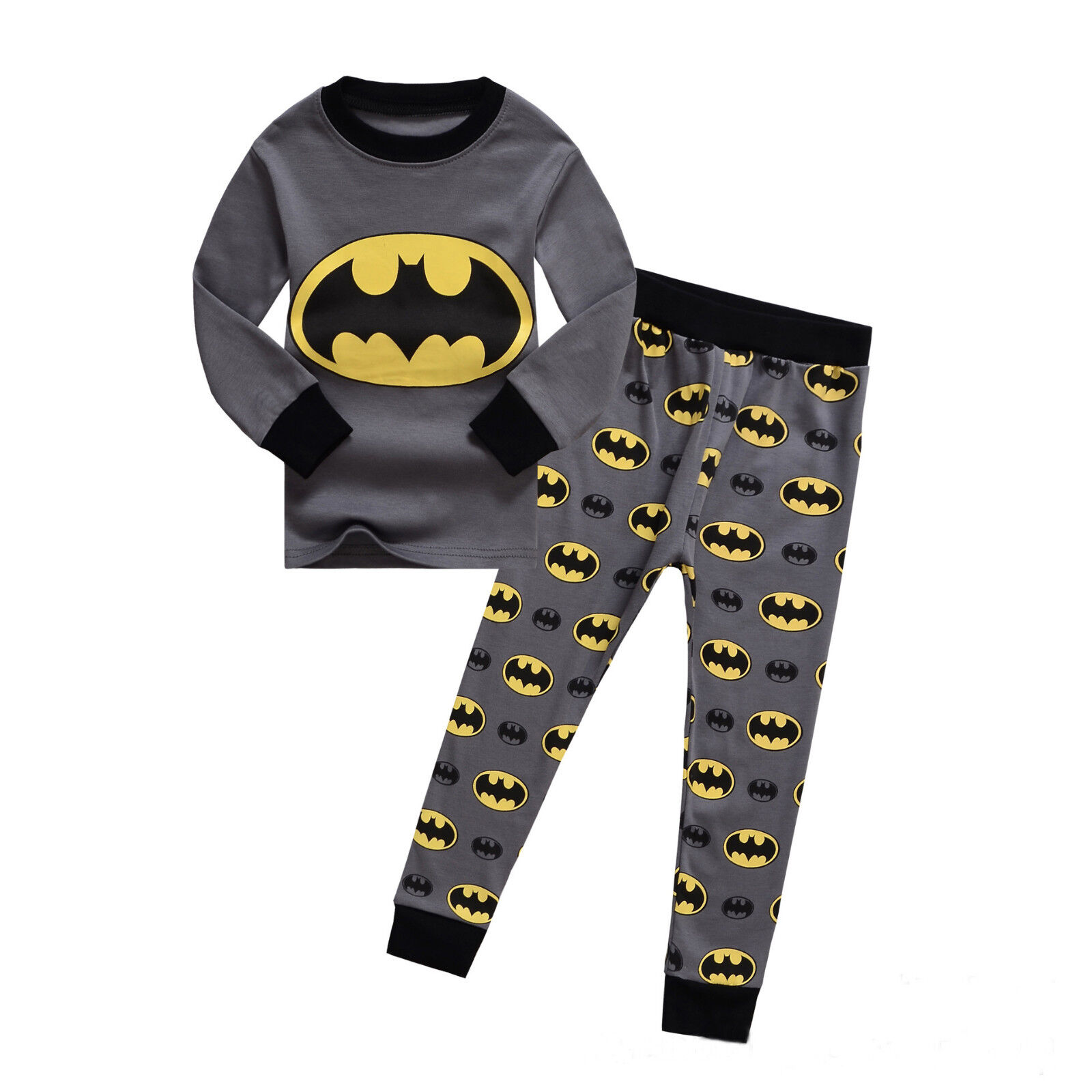 Brand Kids Toddler Baby Boys Batman Spider-man Sleepwear Pj's Pajamas Sets Mon