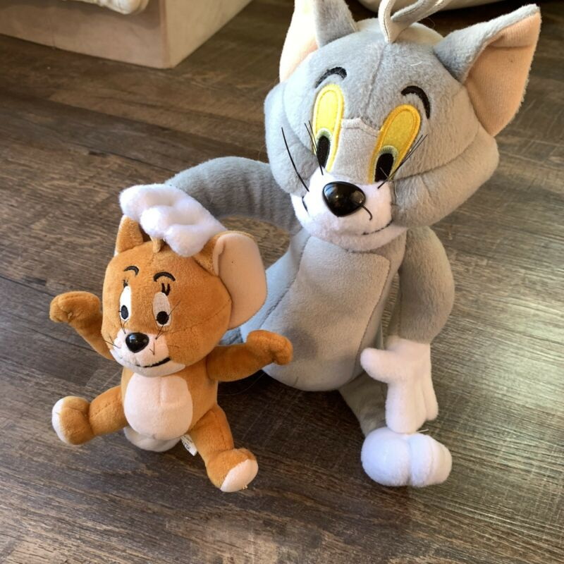 Set of 2 Tom and Jerry Plush Doll Cartoon Stuffed Animal Toy USA STOCK RARE