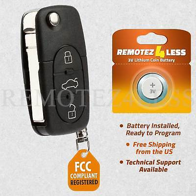 for Audi A4 A6 A8 S4 S6 S8 TT Quattro Cabriolet Keyless Remote Car Entry Key Fob