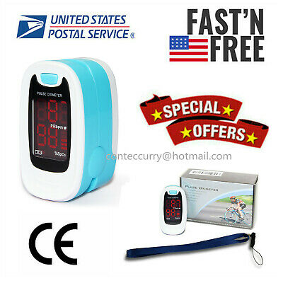 Usa Finger Fingertip Blood Oxygen Meter Spo2 Led Pulse Heart Rate Monitorcontec