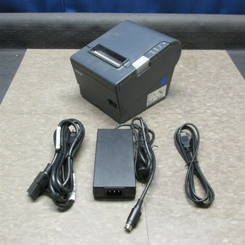 EPSON TM-T88V M244A POS USB + PARALLEL THERMAL RECEIPT PRINTER + PWR SUPPLY