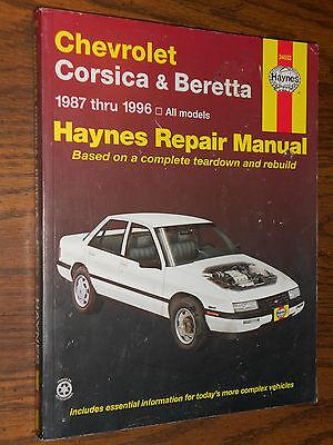 1987-1996 CHEVROLET CORSICA AND BERETTA  /  SHOP MANUAL / HAYNES BOOK 95 94 93+