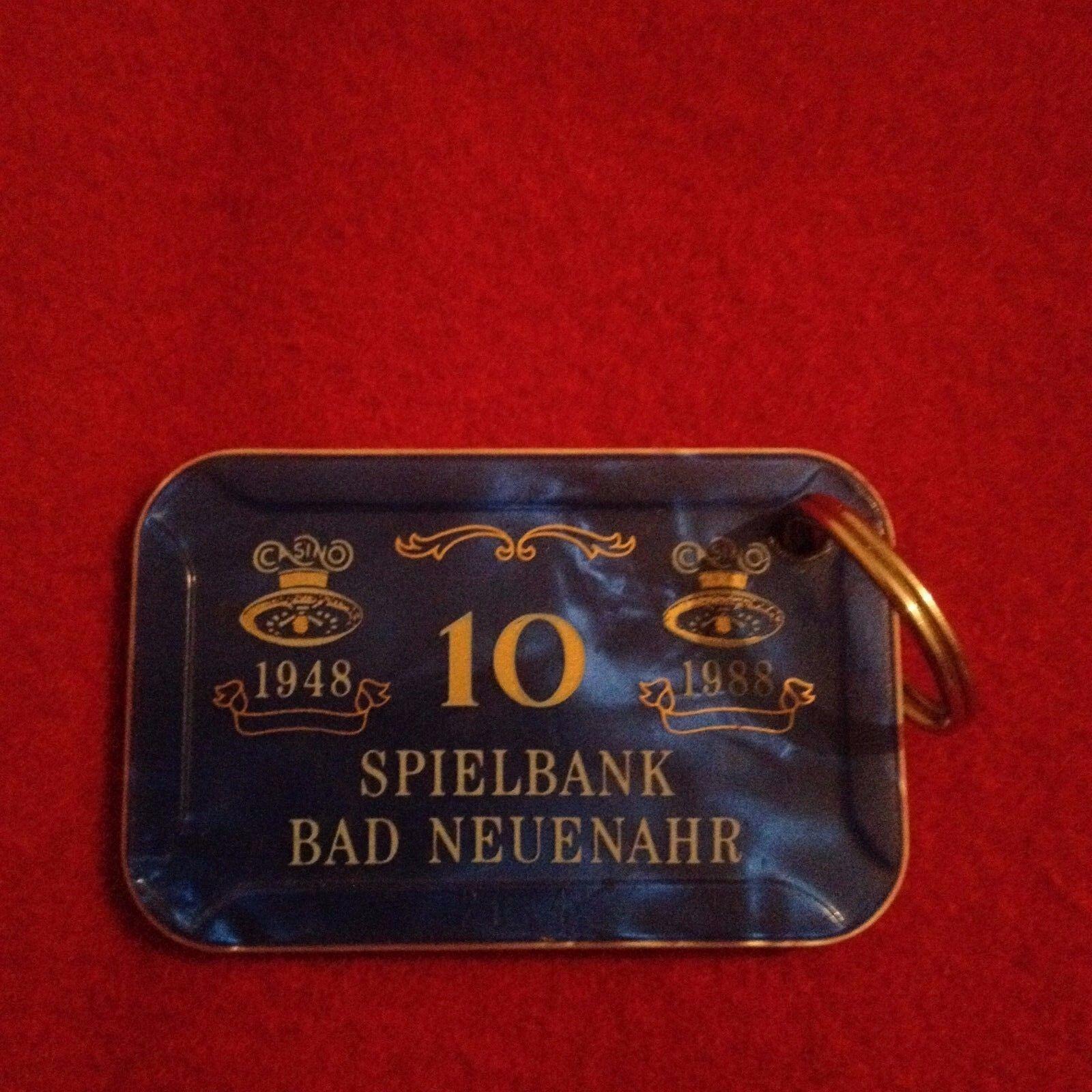 Spielbank Plaque Casino BAD NEUENAHR 1948 - 1988 Aufdruck  10 Jeton Chip Spiel