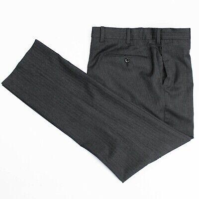 Incotex Gray Super 130s Wool Cashmere Flat Front Slim Trousers Pants 48 32 x 29
