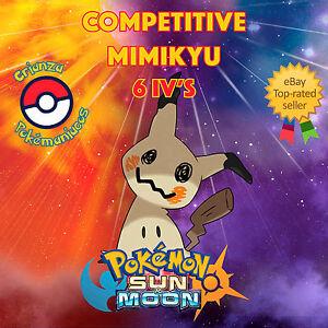 Pokemon-SUN-amp-MOON-COMPETITIVE-MIMIKYU-6IVS-Shiny-No-Shiny