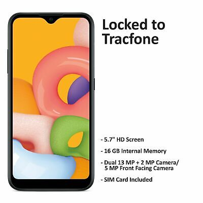Android Phone - Tracfone Samsung Galaxy A01 4G LTE Prepaid Cell Phone