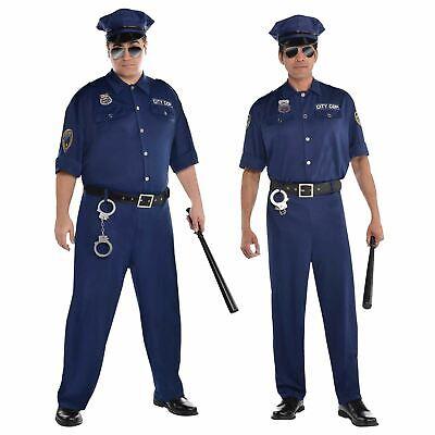 City Cop Patrol Police Officer American US Sheriff Uniform Fancy Dress - Patrol Officer Kostüm