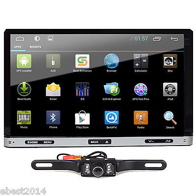 Android 4 4 7\ 2Din InDash Car DVD Radio Stereo Player WiFi 3G GPS+Tablet+CAMERA