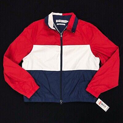 NWT Tommy Hilfiger Jeans Women's L Large Colorblock Jacket Windbreaker Vintage