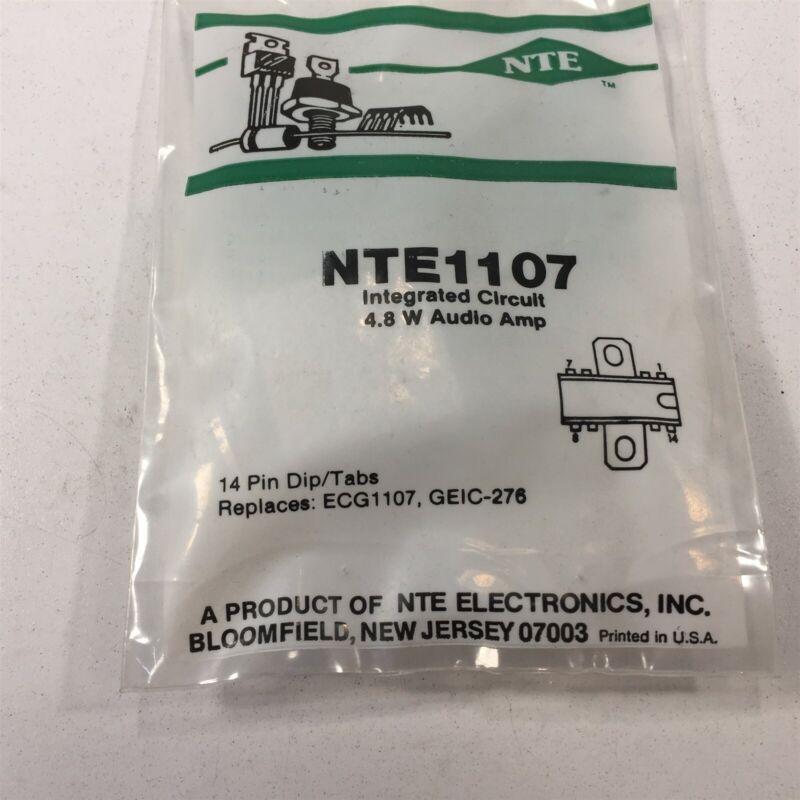(1) NTE NTE1107 Integrated Circuit Audio Power Amplifier, 4.8W