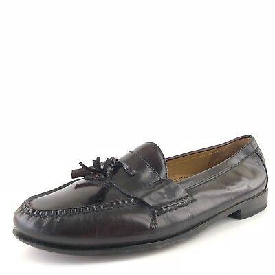 Cole Haan Redwood Leather Slip-on Tassel Pinch Moc Loafers Mens Size 12 M Redwood Moc