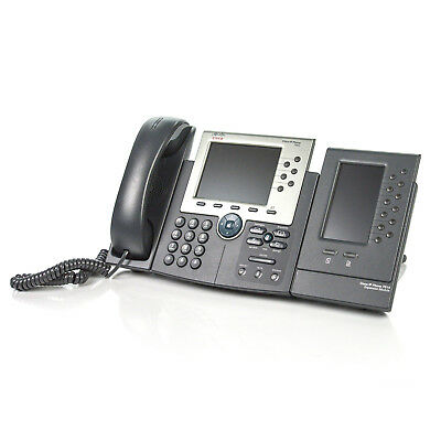 Cisco Cp-7965g Ip Voip 6-line Business Phone W 7916 Expansion Module - No Ac