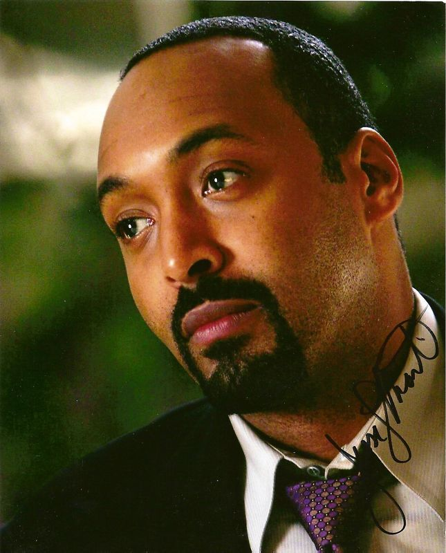 Jesse L. Martin signed auto Law & Order Rent TV LOOK!