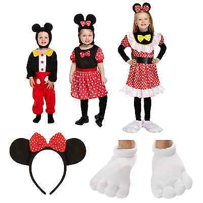 Minnie Mouse Girl Boy Fancy Dress Up Costume Childrens Mickey Outfit Cute Story  (Dress Up Cute Boys)