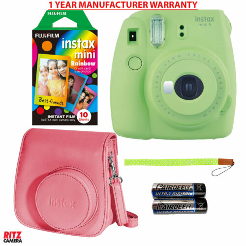 Fujifilm Instax Mini 9 Instant Camera - Rainbow Instant Film