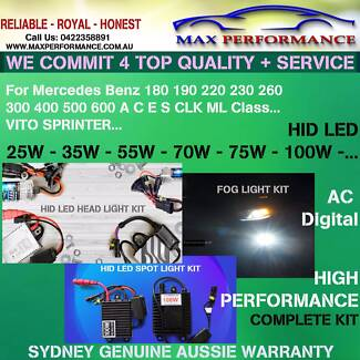 Mercedes Benz SLK55 SLK350 HID LED 35w 50w 55w conversion kit Summer Hill Ashfield Area Preview
