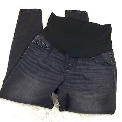 Liz Lange Maternity Jeggings Black Sz 16 Over or Under Belly 3-in-1 Skinny Jeans